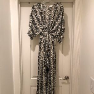 Tribal Pattern Maxi Dress / Beach Cover Up